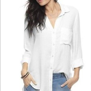 Anthropologie Tops - Bella Dahl white collared button down shirt