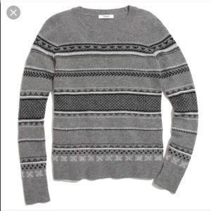 Madewell fair isle sweater