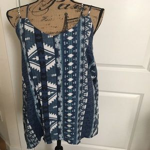Blue and White Cross back Sun Dress