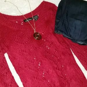 ALLOY Sweaters - Bright Raspberry Knit Sweater Thick Warm