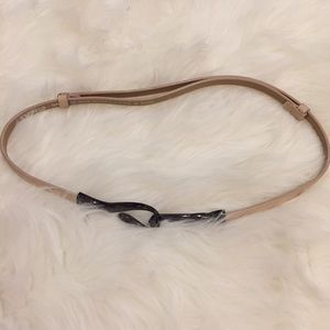 Express Accessories - Express Beige Hooked Belt