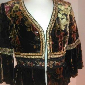 Cynthia Steffe Jackets & Blazers - Cynthia Steffe Boho Velvet Jacket Sz 8