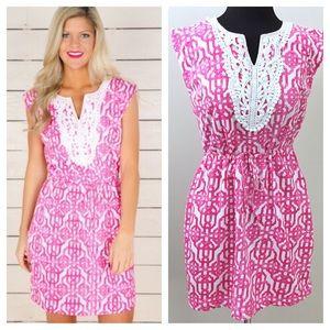 Mud Pie Dresses & Skirts - Like New Berkeley Hills Dress White & Pink