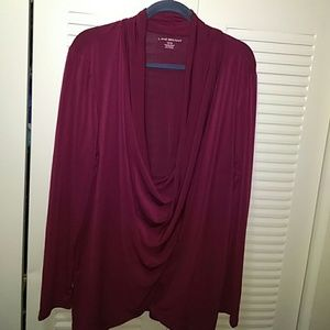 NWT Burgundy Long Sleeve Lane Bryant blouse