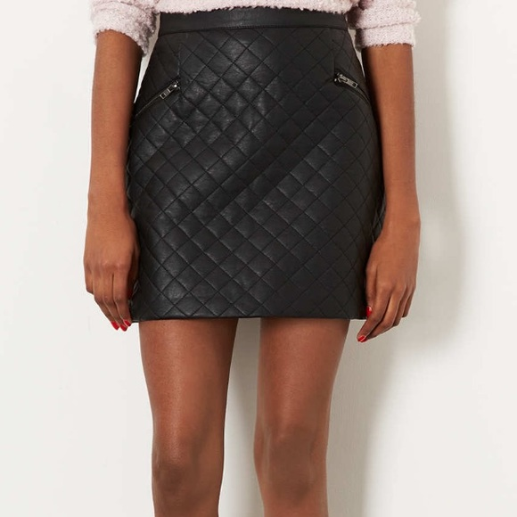 Topshop - Topshop faux leather quilted mini skirt from ! laura's ...