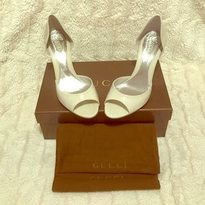 Gucci Shoes - GUCCI WHITE WEDGES