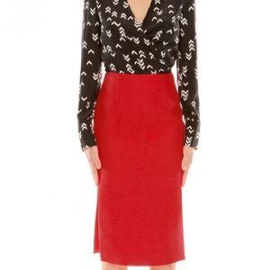 NWT Cameo Collective scarlet pencil skirt