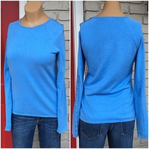 J. McLaughlin Sweaters - Blue button sleeve sweater