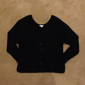 Garnet Hill Black Cardigan