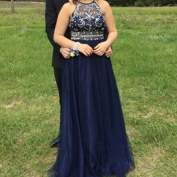 Jewel Top Prom Dresses
