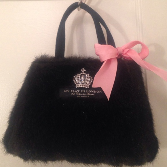 Jan Haedrich Bags   My Flat In London Black Faux Fur Handbag   Poshmark 9a837f1787