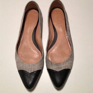 Rebecca MINKOFF flats black toe gray black 8