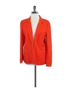 Joie- Orange Linen Open Front Blazer Sz 12
