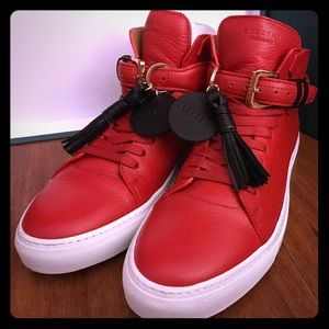 Buscemi Other - 100MM Tassle Red Buscemi Hightop Sneakers