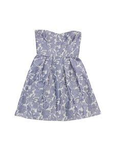 Cynthia Steffe- Lavender & White Floral Strapless Dress Sz 6