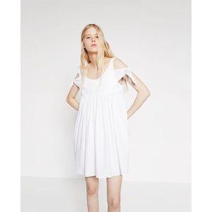 Zara Bow Sleeve Dress (Off Shoulder) New