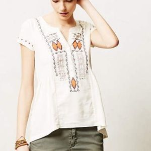 Anthropologie/ Akema + Kin Embroidered High-low