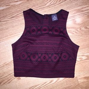 Nectar Tops - Maroon Crop Top