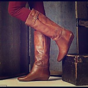 Steve Madden Shoes - Steve Madden Leather Riding Boots w/Gold Buckle