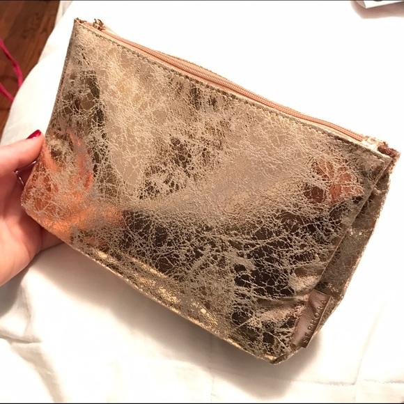 50% off Sephora Handbags - Sephora Gold Makeup Bag from ...