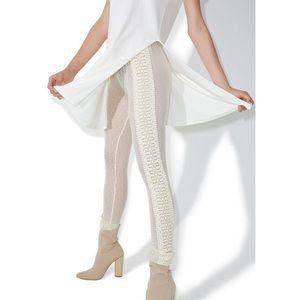 Diamond Supply Co. Pants - Diamond Supply Cream Mesh and Lace Leggings New