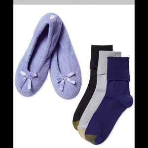 Gold Toe Accessories - GOLD TOE SOCKS WITH SLIPPERS