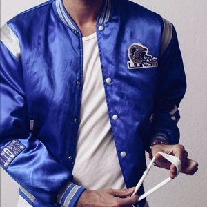 Vintage Jackets   Coats - Custom Detroit lions vintage satin varsity starter 5c395e709