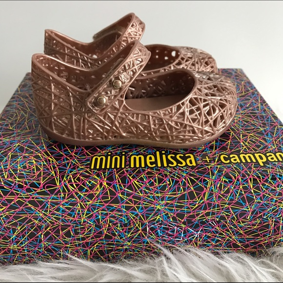 3305948e9166 Rose Gold Mini Melissa Mini Campana Zig Zags. M 586b34bc620ff7fb5812f775