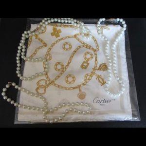 Cartier Accessories - 🆕 HP ❤️ Cartier Silk Scarf (Authentic) STUNNING!