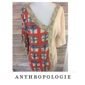 Anthropologie Vanessa & Virginia Cream Blouse