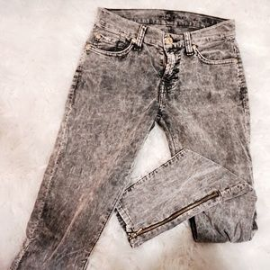 7 For All Mankind Denim - 7 For All Mankind grey distressed with zippers
