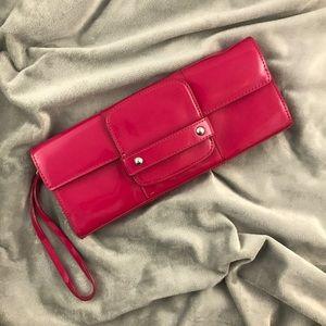Alfani Handbags - ⬇️ Hot Pink Patent Leather Alfani Wristlet/Clutch
