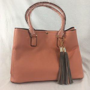 Vegan Leather Blush Melie Bianco Handbag