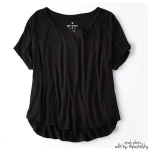 American Eagle Outfitters Tops - 🆕 AEO split neck tee