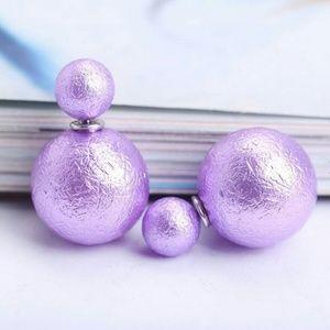 Jewelry - Double Sided Earrings Light Purple