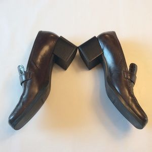 Enzo Angiolini Shoes - Leather Heeled Loafers