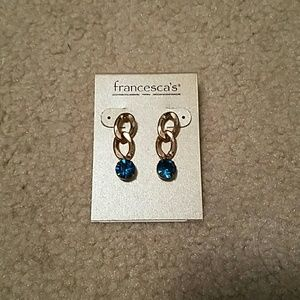 Price firm. Francescas gold and green earrings