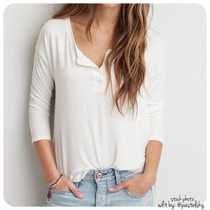 American Eagle Outfitters Tops - 🆕 AEO 3/4 length sleeve top