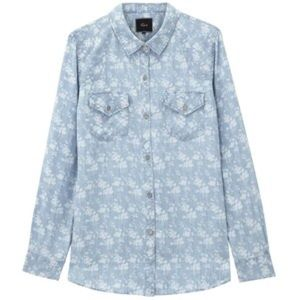 Rails Tops - Rails Carter Floral Print Chambray Shirt