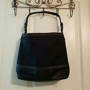 Coach Handbags - Coach signature all black tote