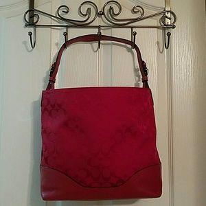 Coach Handbags - Coach signature red tote