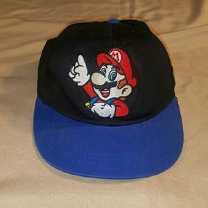 Nintendo  Other - Kids Flat Bill Super Mario Snap Back Hat