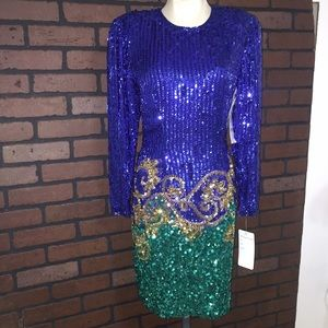 NWT Vintage/Retro Sequins and Silk Dress