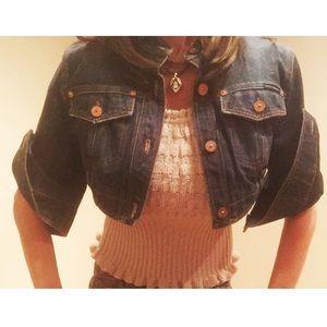 Dolce & Gabbana Jackets & Blazers - Cropped Denim jacket
