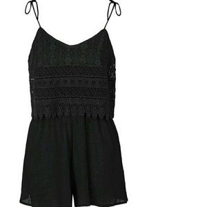 Topshop Pants - Beautiful Topshop Crochet Romper