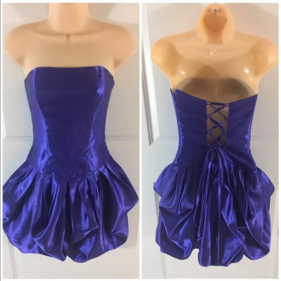 7d1ce98d255 gunne sax Dresses   Skirts - Vintage Gunne Sax 80s purple lace up bubble  dress