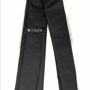 Tiger of Sweden Other - Tiger of Sweden Men's Black Skinny Silk Tie