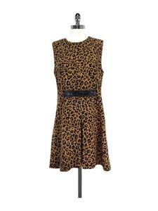 3.1 Phillip Lim- Tan & Black Leopard Print Dress Sz 10