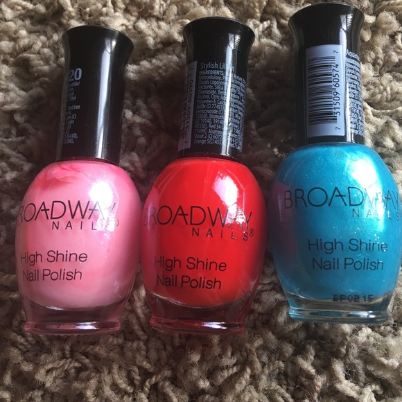 Broadway Nails Other | Purple Red And Aquarius Blue Nail Polish ...