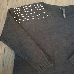 Slouchy Sweater w/ Stud Detail